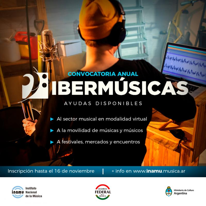 El Programa Ibermúsicas abrió su convocatoria anual - INAMU - Instituto Nacional de la Música